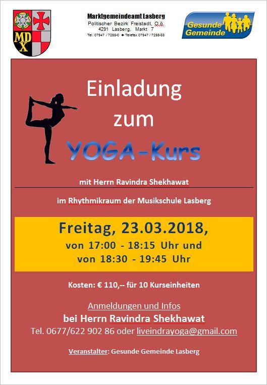 Yoga-Kurse - Lasberg - RIS Kommunal